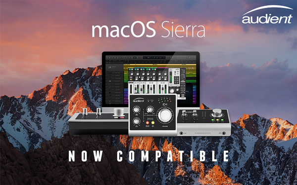 Audient iD 系列声卡已全面兼容支持 macOS Sierra 系统
